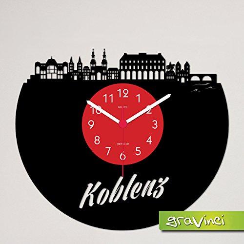 Gravinci.de Schallplatten-Wanduhr Koblenz