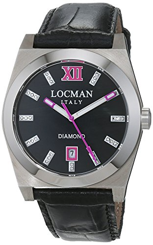 Locman Damen Datum klassisch Quarz Uhr mit Leder Armband 20300MKDFFXPSK