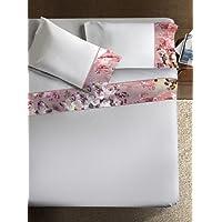 Ipersan Juego Sábanas Armonie Estampado Flora color blanco  cm. 260x290