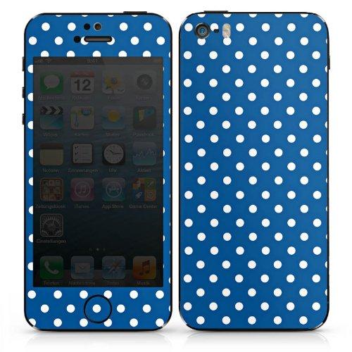 Apple iPhone 4s Case Skin Sticker aus Vinyl-Folie Aufkleber Pünktchen Muster Polka DesignSkins® glänzend