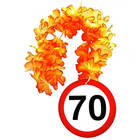 1 Geburtstag Hawai Kette 70 Jahre Party Deko