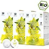 BIO Teekapseln von My-TeaCup | Kompatibel mit Dolce Gusto®*-Maschinen | 100% kompostierbare Kapseln ohne Alu (Kräutertee Lemon Grass, 48 Kapseln)