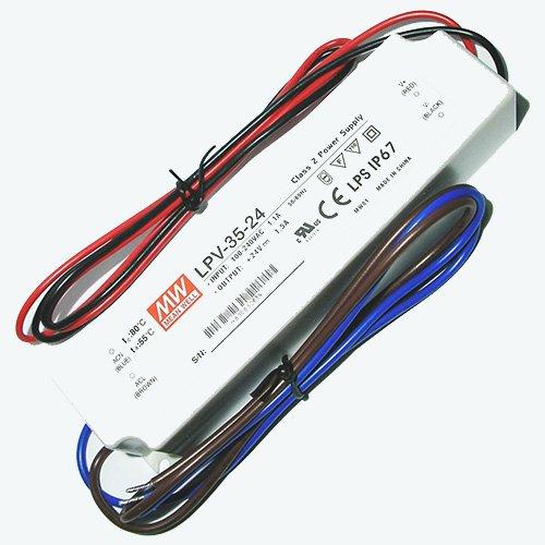 Meanwell LPV 35 24 LED fuente de alimentación conmutada 24 VDC 36 Watt IP67
