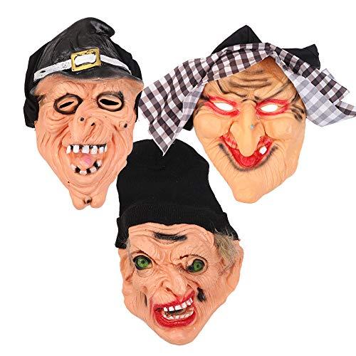 SAILORMJY Maske Halloween, 3 Stück Cosplay Maske Halloween Cosplay Kostüm Maske Erwachsenen Latex Gesichtsmasken Kostümfest Horrorfilm Requisiten Merchandise Zubehör Weibliche - Drei Wünsche Weihnachten Kostüm