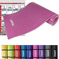 POWRX Gymnastikmatte inkl. Trageband + Workout | Trainingsmatte Yogamatte Phthalatfrei 190 x 60 x 1.5 cm oder 190 x 100 x 1.5 cm | verschiedene Farben