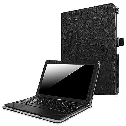 Fintie Odys Winpad 10 / Lenovo Miix 300 10.1 Hülle - Slim Fit Folio Premium Kunstleder Tastatur Ständer Schutzhülle Case Cover Tasche mit Ständerfunktion für Odys Winpad 10 2in1 / Lenovo Miix 300 (10,1 Zoll) Tablet-PC,