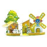 Hunpta, puzzle di carta 3D educativo mini modello fai da te giocattolo regalo bambini, B, 1