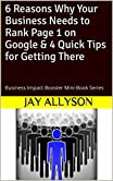 The first in this Business Impact Boosters series, in this short mini-guide, Dr Jay Allyson Dempster outlines six reasons why getting on the first page of the search engine of choice should be a key objective of any 21st century marketing strategy.So...