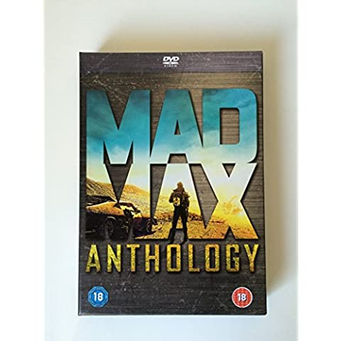 Complete Mad Max 1-4 Anthology Box Set: Mad Max / Mad Max 2: The Road Warrior / Mad Max Beyond Thunderdome / Mad Max Fury Road Extras bonus Madness of Max feature-length documentary and 4 exclusive artcards in a rigid slipcase by Tom Hardy