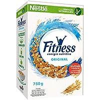 Cereales Nestlé Fitness Original - Copos de trigo integral, arroz y avena integral tostados - 3 paquetes de cereales de 750g