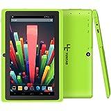 Quad core Yuntab 7 pouces Tablette Tactile Allwinner A33 HD 1024 X 600 Tablette PC Android 4.4.2 KITKAT 8 Go WiFi Support 3D Jeux Google Play Store Youtube Netflix Jeux (verte)
