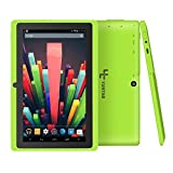 Yuntab 7 Inches 8G Q88 Quad-core Tablet PC Google Android 4.4 Google Play Pre-loaded, External 3G 3D-Game Supported 5 Point Screen Capacitive 1024*600 Multi Touch with Dual Camera (Green)