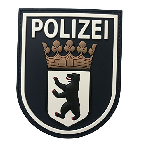 JTG Ärmelabzeichen Polizei Berlin - Patch, schwarz / 3D Rubber Patch (Patches Für Die Polizei)