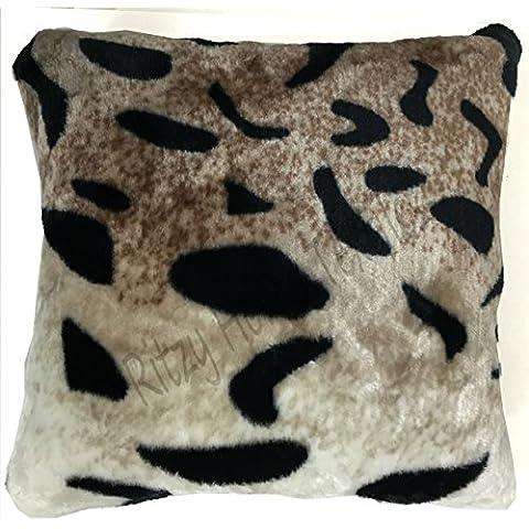 Sofá cama de piel sintética visón manta de forro polar mantas Animal suave y cálida grande, 100% poliéster/poliéster, tigre, Funda de cojín