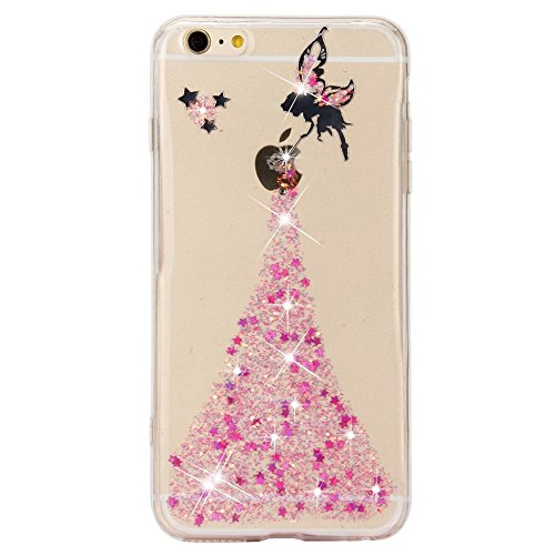 iPhone 6s Cover, Sunroyal Crystal Clear Glitter