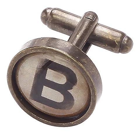 Code Red Men's Vintage Style Typewriter Key Initial B Base Metal Cufflink