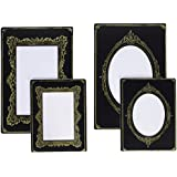 Image of Advantus Idea-Ology Sophisticate Mini armadietto per carte, colore: nero/oro, 10 x 15 cm e 3 x 4, foto e altro...