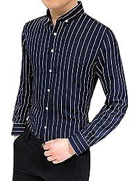 Camicia Uomo Slim Fit Maniche Lunghe Eleganti Confortevole Primavera  Confortevole Camicia Miscela Camicie Risvolto Casual Classiche 67d491954b2