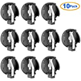 Uxcell 10 Pcs DIY 2 X CR2032 Coin Cell Button Battery Holder Socket
