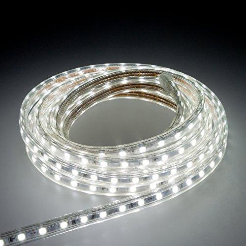 Smartfox LED-Streifen 2m mit 120LEDs für Innen und im Freien, in Weiß und Kaltweiß (Led Outdoor Streifen-lichter)