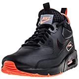 NIKE Herren Air Max 90 Ultra Mid Winter SE Schwarz Leder/Synthetik Sneaker 42.5