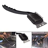 Shelzi Stainless Steel BBQ Grill Cleaning Brush with Scraper
