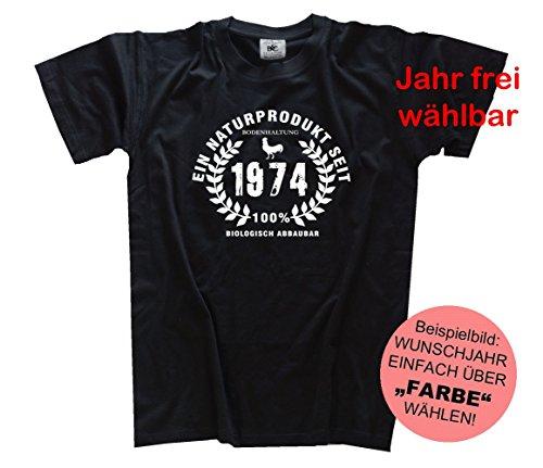 Shirtzshop T Shirt Sono un prodotto naturale, Unisex, T Shirt Ich bin ein Naturprodukt, nero, XXL nero