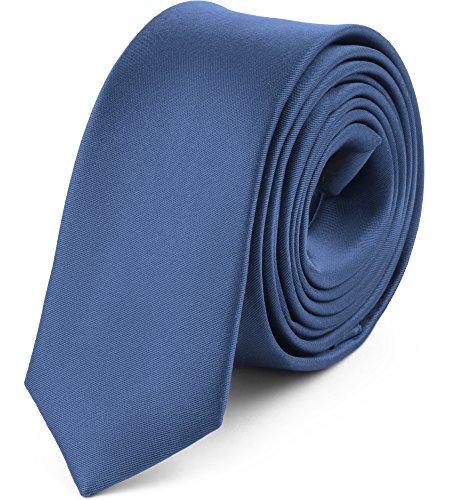 Ladeheid Corbata Estrecha para Hombres SP-5 (150cm x 5cm, Jeans)