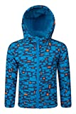 Mountain Warehouse Arctic Gemusterte Kinder Softshell jacke mantel warm Winter Schnee Ski Snowboard Kobalt 140