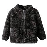 Beikoard Kind Mädchen Manteljacke Kleinkind Baby Feste Flauschige Mantel Jacke Dicke Oberbekleidung Weiche Plüschjacke aus Warmer Baumwollwindjacke