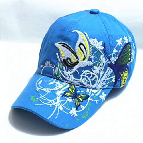 YPORE Baseball Hat Cap Butterflies and Flowers Embroidery Cotton Caps Casual Hats Snapback Cap Fashion forWomen