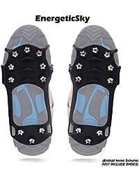 Schuhspikes Mit 10 Noppen, Schuhkralle,Kieselgel Anti Rutsch Eisspikes für Den Stiefel, Steigeisen - By EnergeticSkyTM