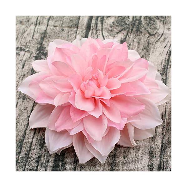 10pcs / Lot Gran Dalia Artificial Peony Cabeza de Flor 15Cm Seda de Boda de Flores Flowershome Decorativo, 3