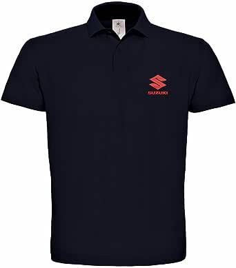 Caprica91 Suzuki Auto Bestickte Logo Polo Fun Poloshirt Super Premium Qualität 127 Bekleidung
