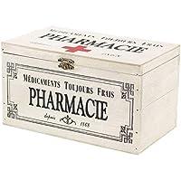 SIDCO Medizinkasten Holz Erste Hilfe Box Pharmacie Hausapotheke Deko Aufbewahrung preisvergleich bei billige-tabletten.eu