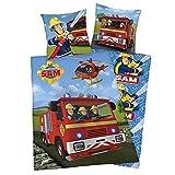 Bettwäsche FLANELL Feuerwehrmann Sam Notruf 112 Geschenk COOL 135 x 200 cm NEU WOW - All-In-One-Outlet-24 -