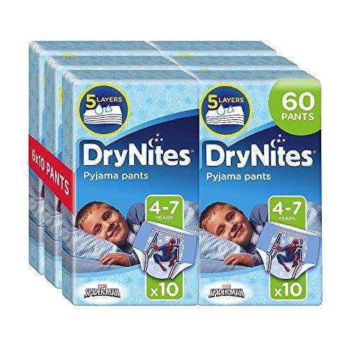 drynites boy Huggies DryNites Boy hochabsorbierende Pyjamahosen Unterhosen für Jungen 4-7 Jahre, 2 Pack (2 x 3 x 10 Windeln)