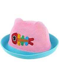 Sombrero de Paja Verano Sol Sombrero Para Bebé Niños y Niñas sombrero de  verano visera gorro e305cf0977d