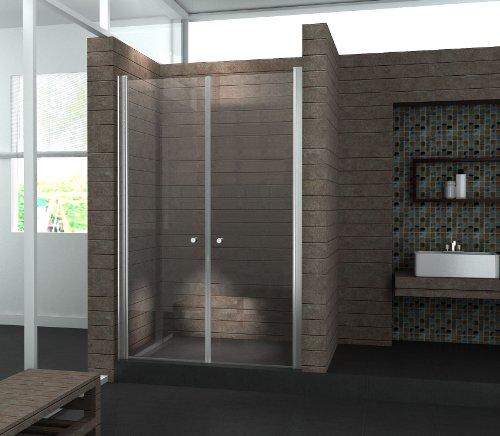 Preisvergleich Produktbild Walk In 6 mm Duschwand Duschabtrennung Nischentür Dusche 90 x 195 cm SALOTTO