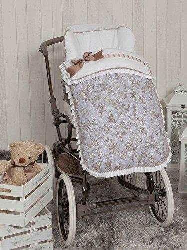 Babyline Toile - Saco de silla de paseo, color gris