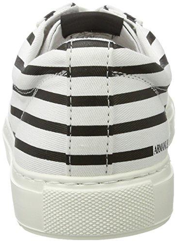 Armani - 9350637p404, Scarpe da ginnastica Uomo Mehrfarbig (bianco/nero All Over)