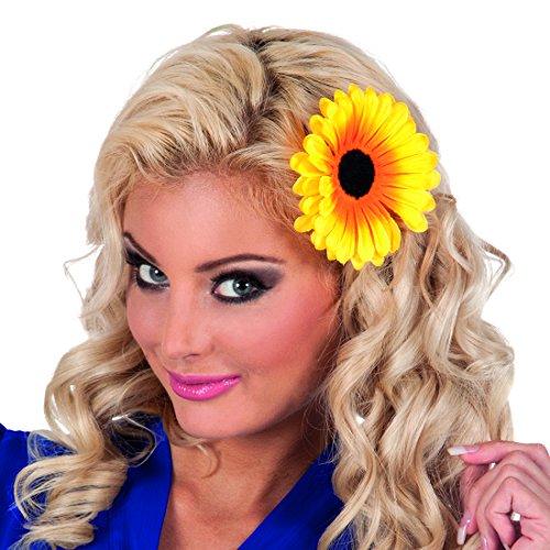 NET TOYS Blumen Haarschmuck Haarspange Sonnenblume Haarclip Haarklemme Blume Haarblume Ansteckblume