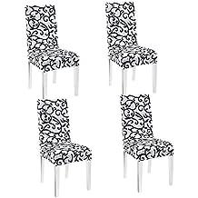 nuosen 4pz sedia da pranzo moderna elasticizzato coprisedia lavabile sedia protezione schermo spandex Slipcovers rimovibile seggioloni Fodere