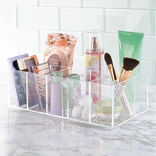 comprare on line mDesign Organizer per cosmetici ? Box a 6 scomparti per riordinare trucchi, flaconi e altri accessori da bagno ? trasparente prezzo