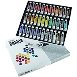 Liquitex Basics - Set de tubos de pintura acrílica (36 unidades)