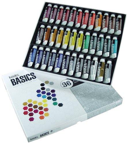 Liquitex 101036- Juego de tubos de pintura acrílica (36 unidades)