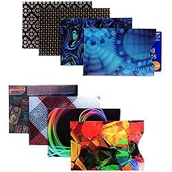 Kurtzy Étuis de Protection RFID pour Carte Bancaire Lot de 8 Pochettes de Sécurité Fines pour Portefeuille Porte-Monnaie Prévention des Fraudes - Protection Optimale Contre Le Vol d'Identité