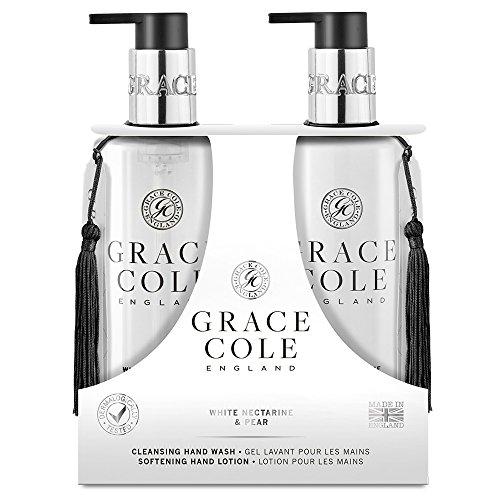 Savon Liquide 300ml, Lotion pour les Mains par Grace Cole (White Nectarine & Pear)
