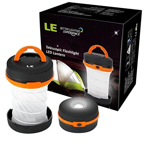 LE LED Laterne Taschenlampe Zusammenklappbar , mini LED Notfallleuchte, 3 Helligkeiten, Aussenleuchte für Camping, Outdoor, Wandern, Angeln, Abenteuer, Campinglampe, Ausfälle