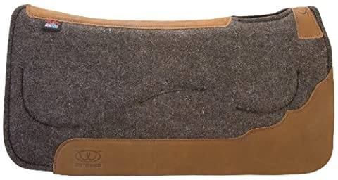 Weaver Leather Contoured Layered Felt Saddle Pad with Gel Insert, Tan